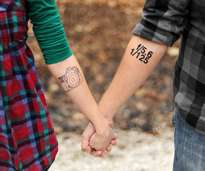 tattoo, couple, and photography image