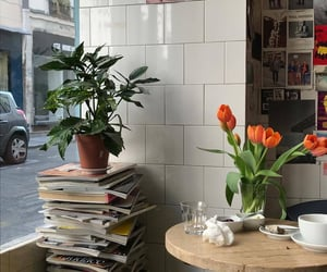 baked goods, flowers, and read image