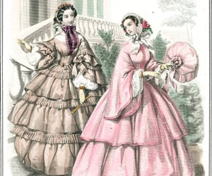 dress, 1850s, and history image