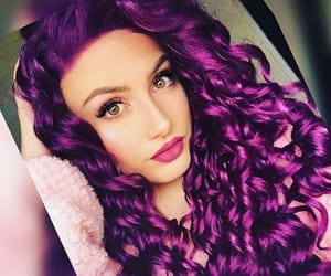 purple hair, colourful hair, and purple haired girl image
