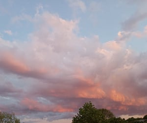 clouds, spring, and sunset image