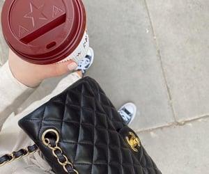 bag, chanel, and coffee image