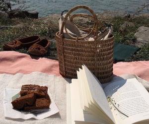 bag, basket, and cake image