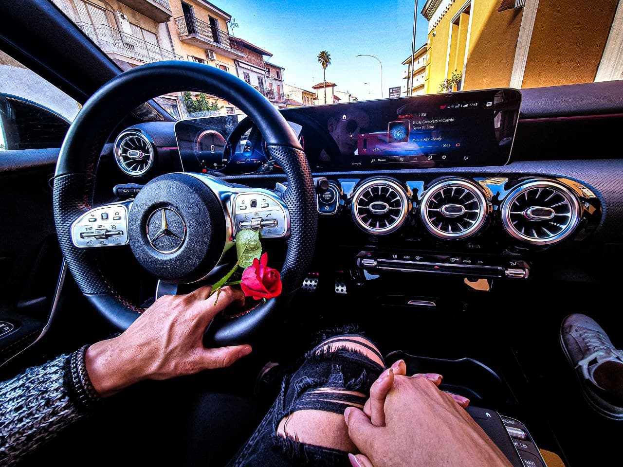 couple, inspiration, and mercedes image