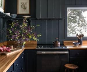 beautiful, dark, and kitchen image