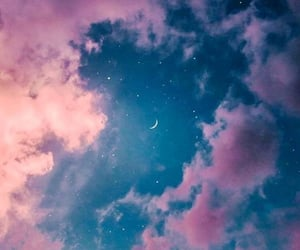 wallpaper, sky, and blue image
