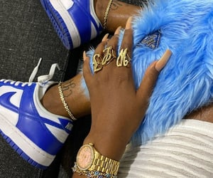 nails, nike, and shoes image