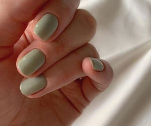 nails, green, and manicure image