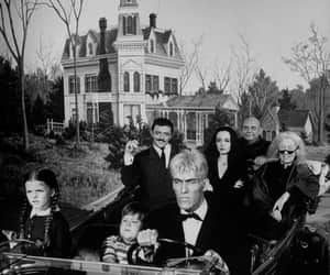 black and white, the addams family, and blanco y negro image
