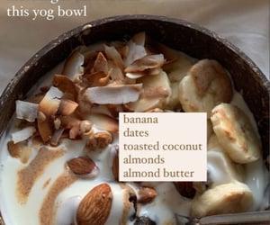 bowl, yoghurt, and food image