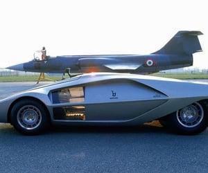 futuristic look, fat tires, and 1970 stratos zero image