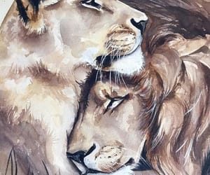 aesthetic, lion, and animals image