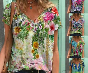 blouse, short, and tops image