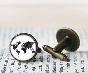 world, cufflinks, and globe image