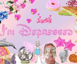 depressed, disney, and pink image