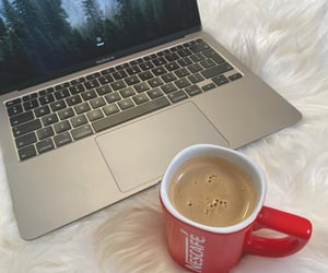 aesthetic, apple, and coffee image