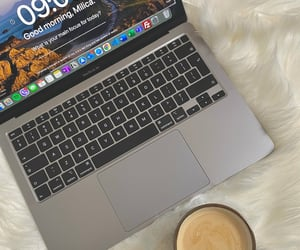 apple, coffee, and laptop image