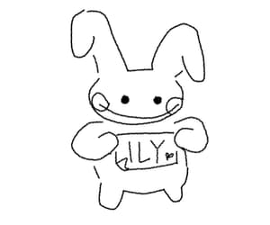 bunny, drawing, and softcore image