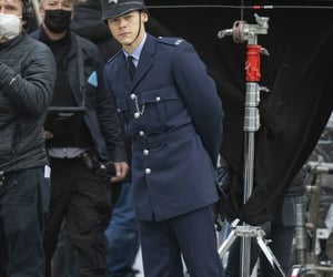 Harry on set today