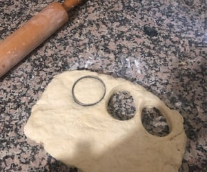 circle, dough, and kitchen image