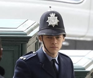 Harry on set of My Policeman today