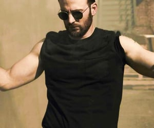 arms, chris evans, and muscles image