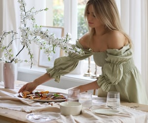 blonde, cottage, and food image