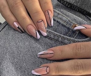 girls, nails, and women image