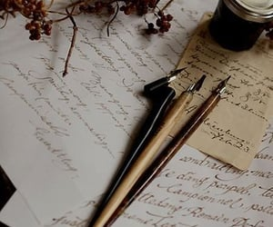 aesthetic, writer, and ink image
