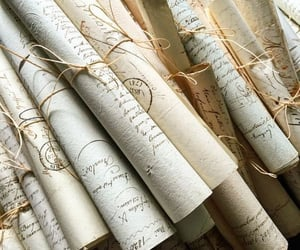 aesthetic, parchment, and words image