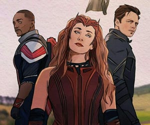 art, falcon, and Marvel image