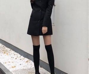 fashion, black, and model image