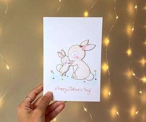 art, cute, and bunnies on a card image