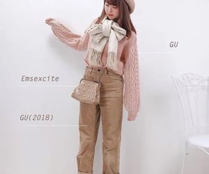 beret, bow scarf, and clothes image