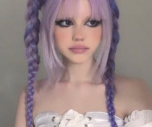 bangs, braids, and hairstyle image