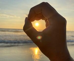 atardecer, beach, and beautiful image