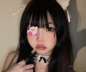 aesthetic, asian, and cat ears image