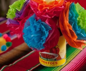cinco de mayo, crafts, and tissue paper image