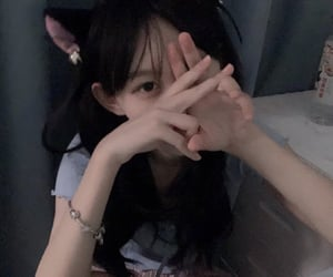 aesthetic, asian, and catgirl image