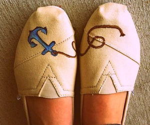 shoes, toms, and anchor image