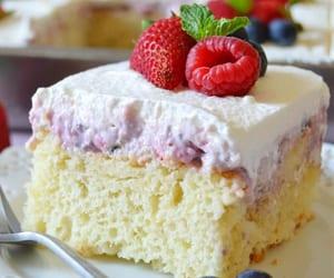 berries and cream poke cake