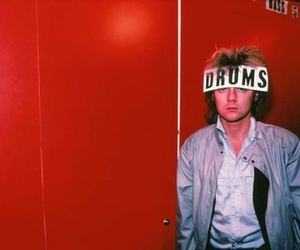Queen, roger taylor, and drums image