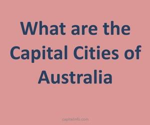 capital city of australia, capital of australia, and list of australian states image