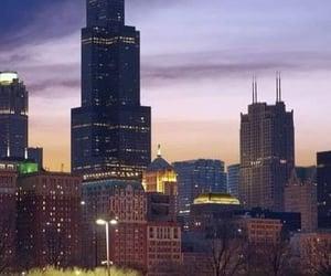 chicago, Lake Michigan, and chica skyline image