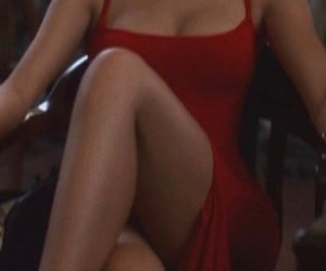 red, dress, and y2k image