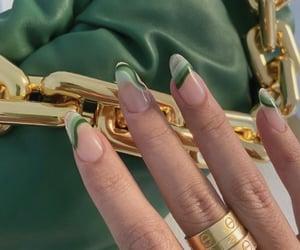 nails, green, and fashion image