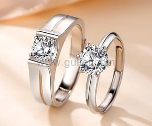 diamond ring, engagement, and fashion image