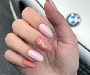 brown, manicure, and peach image