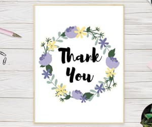 etsy, watercolor flowers, and wedding thank you image