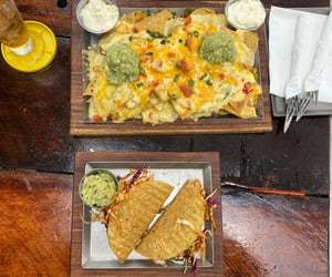 mexican, nachos, and tacos image